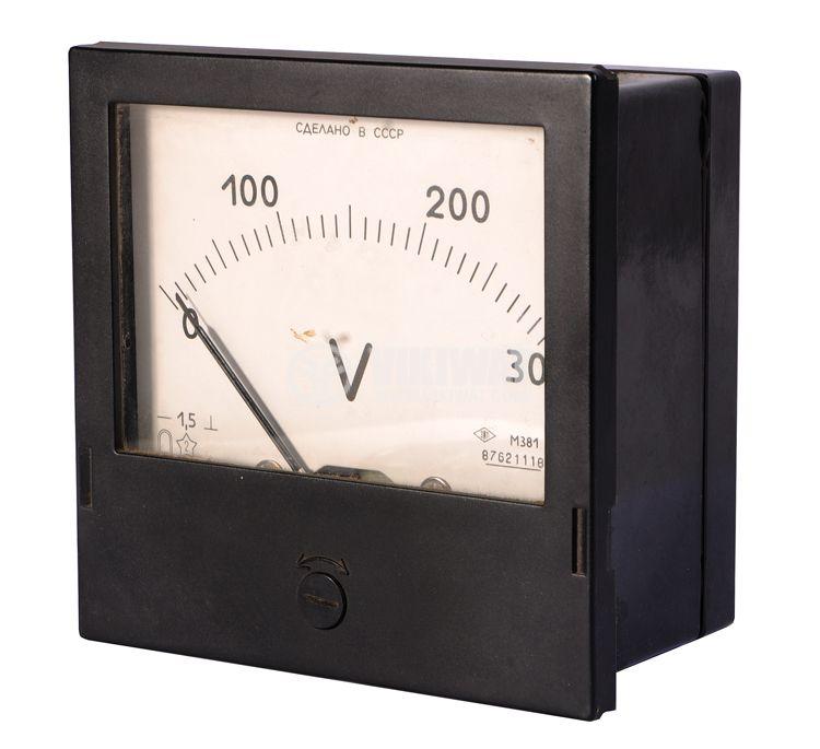 Волтметър, 300 VDC, M381, с размери 115x115 mm