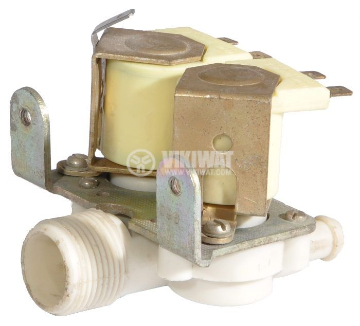 Electromagnetic valve double for automatic washing machines - horizontal - 2