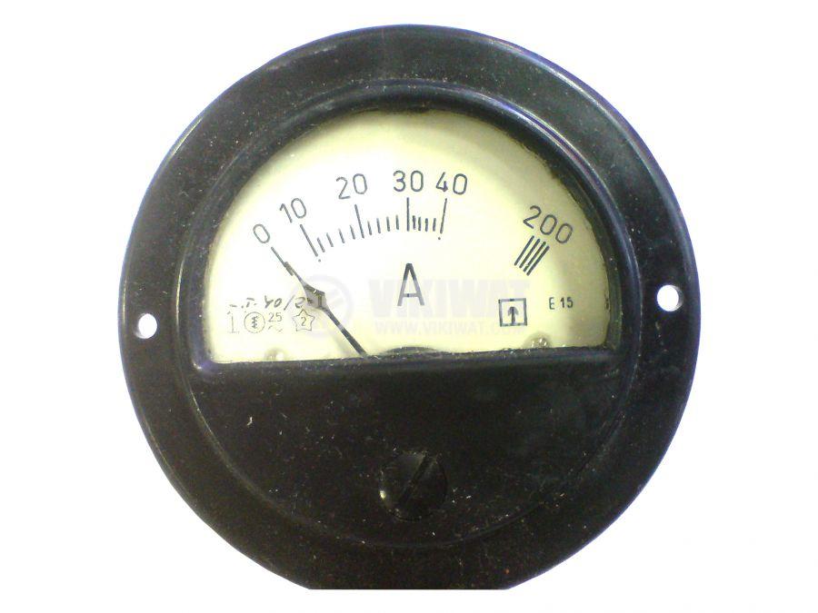 Амперметър, 10-40/200 A, AC, E15, с външен токов трансформатор