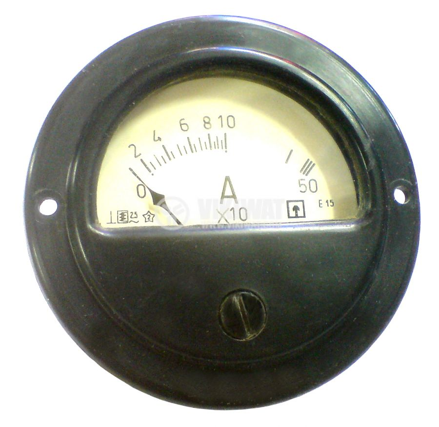 Амперметър, 0-100 А / 500 A, AC, E15, директен
