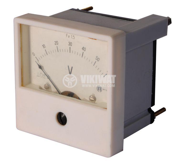Волтметър, 60 VDC, М13, размери 80х80 mm