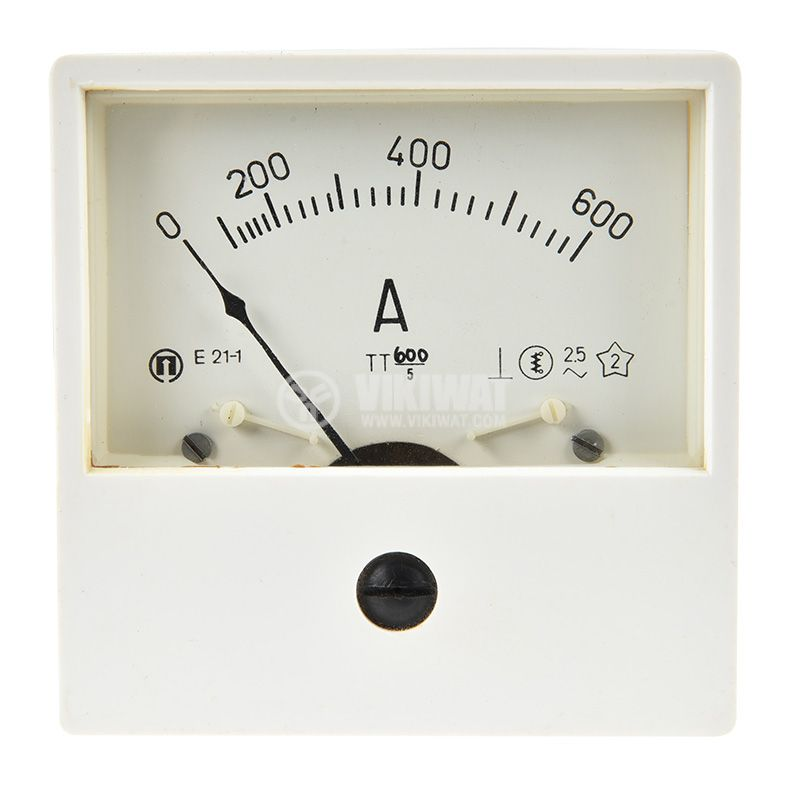 Aмперметър E21, 600A, AC, с външен токов трансформатор 600/5 - 1