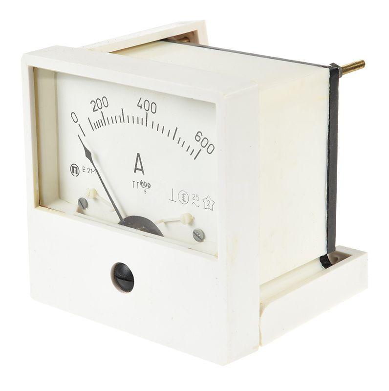 Aмперметър E21, 600A, AC, с външен токов трансформатор 600/5 - 2
