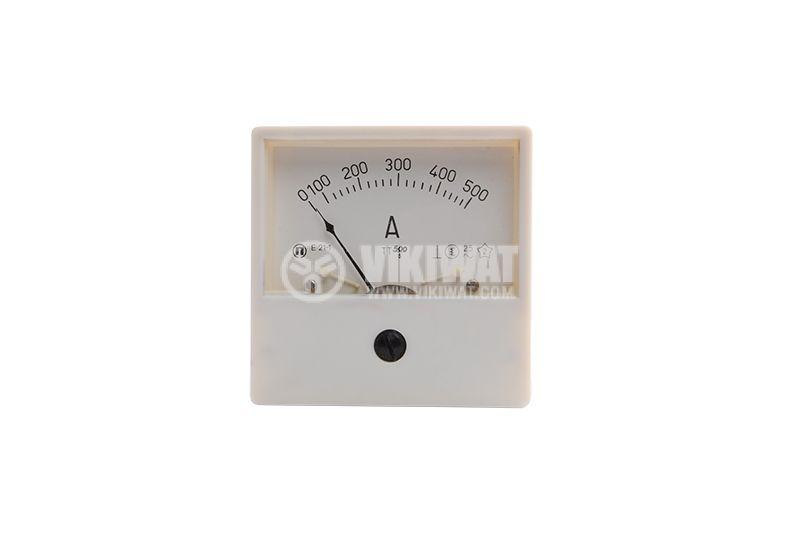 Aмперметър, 500A, AC E21-1 с външен токов трансформатор 500/5А - 1