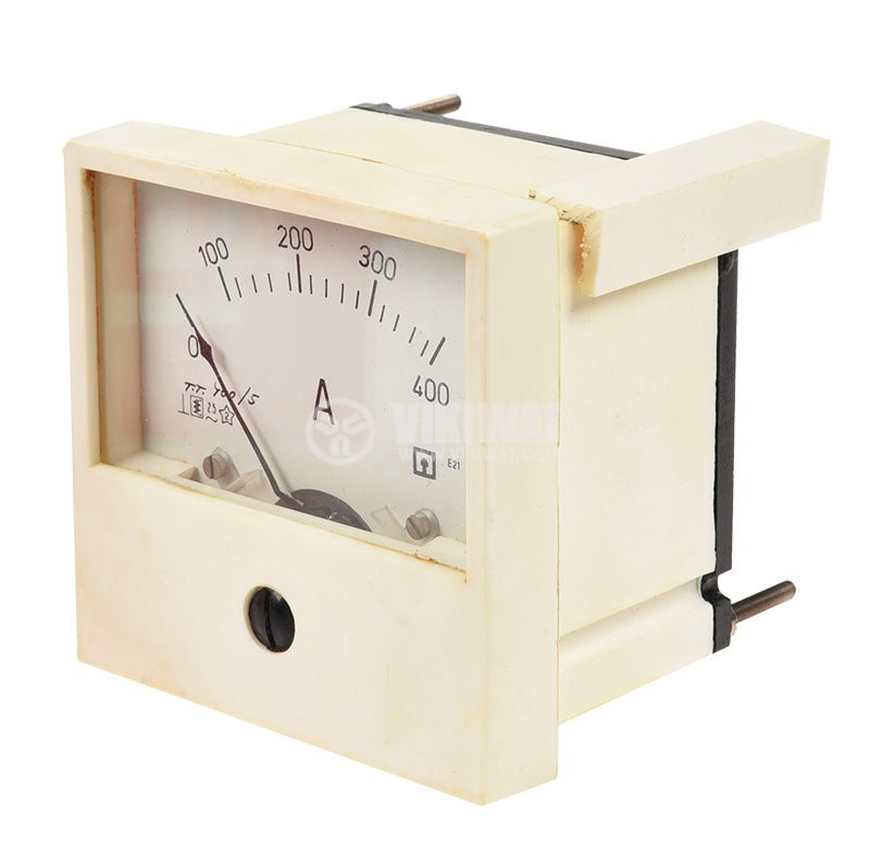 Analogue panel ammeter 400A, AC, E21-1, current transformer operated 400/5A - 2