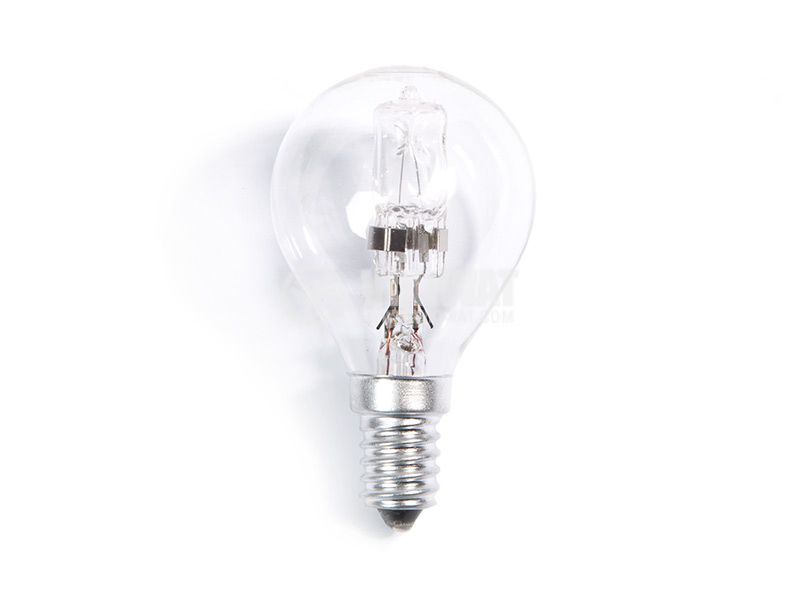 Halogen bulb E14, 220VAC, 28W, warm white, REAL SAVE - 1