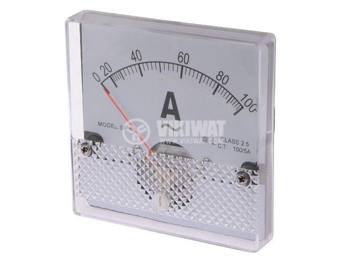 Амперметър, 100 A, AC, SF-80, с външен токов трансформатор 100/5 A - 1