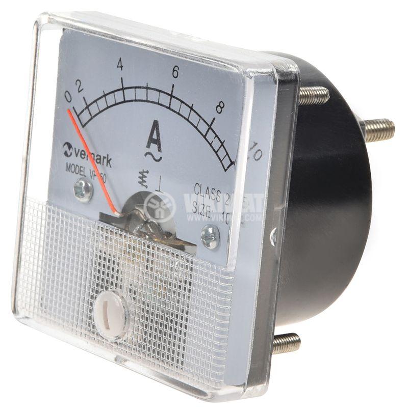 Амперметър, 0/2-10A, AC, VF-50, директен - 1