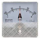 Analogue panel ammeter VF-80, 100-0-100A, DC, shunt operated 60mV