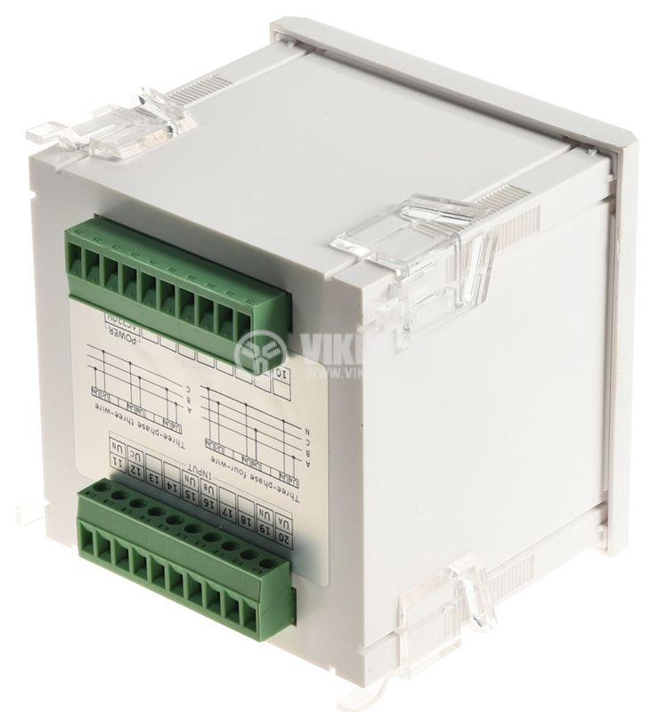 Трифазен цифров програмируем волтметър VМ96-3V, 3x600V, директен  - 4