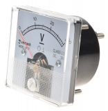 Analogue panel voltmeter VF-50, 0-30V, DC, self-contained, 50x50mm