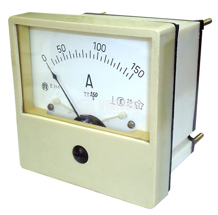 Амперметър, 150 A, AC, E21-1, с токов трансформатор, 150/5 A