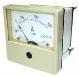 Амперметър, 150A, AC, E21-1, с токов трансформатор, 150/5 A