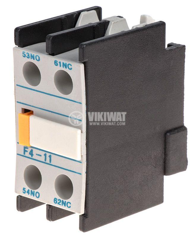 Спомагателен контактен блок, F4-11, 2PST - NO+NC, 4A/380V - 1