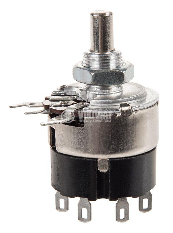 Потенциометър, с ключ, линеен, моно, въглероен, 10kOhm, 0.5W - 1