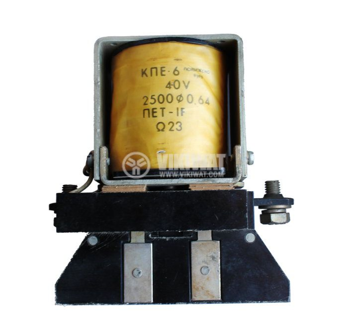 Contactor, one-pоle, coil 40VDC, SPST - NO, 160A, КПЕ-6 - 1