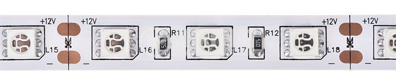 LED лента ECOLINE 5050, 60LED/m, 14.4W/m, 12VDC, IP20, невлагозащитена, жълта,  - 1