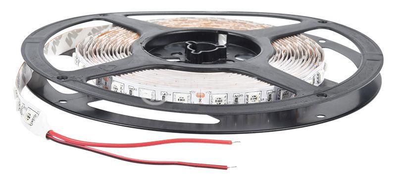 LED лента ECOLINE 5050, 60LED/m, 14.4W/m, 12VDC, IP20, невлагозащитена, жълта,  - 3