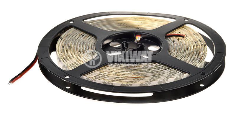 LED лента SMD5050, 60LED/m, 14.4W/m, 12VDC, IP65, влагозащитена, топло бялa, BS45-0400 - 3