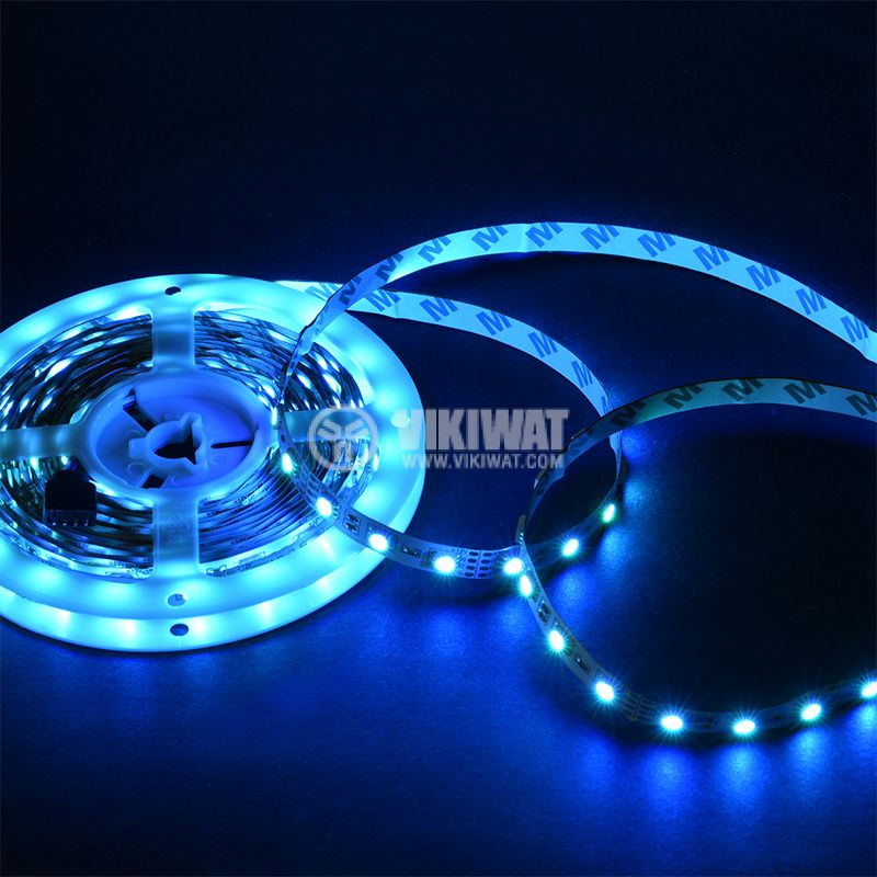 LED strip LED type 60diodes of 5050, SMD mounting, RGB color - 12