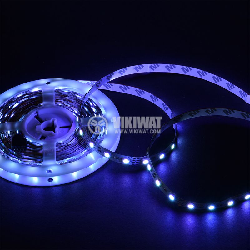 LED strip 60LED/m, RGB, SMD5050, 12VDC, 14.4W/m, IP20 - 2