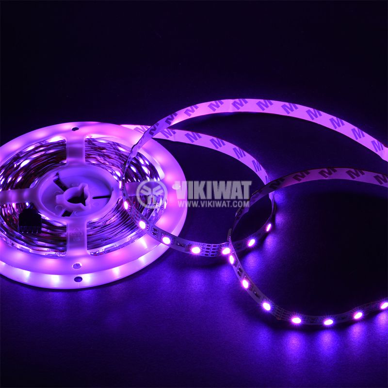 LED strip 60LED/m, RGB, SMD5050, 12VDC, 14.4W/m, IP20 - 3