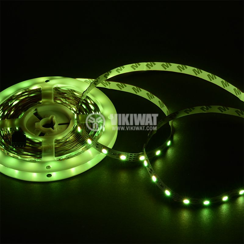 LED strip 60LED/m, RGB, SMD5050, 12VDC, 14.4W/m, IP20 - 4