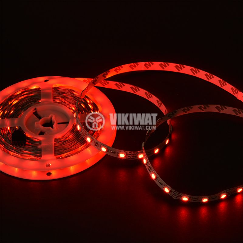 LED strip 60LED/m, RGB, SMD5050, 12VDC, 14.4W/m, IP20 - 5
