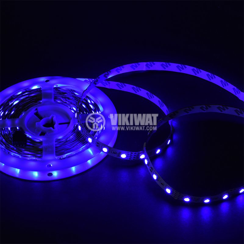 LED strip 60LED/m, RGB, SMD5050, 12VDC, 14.4W/m, IP20 - 6