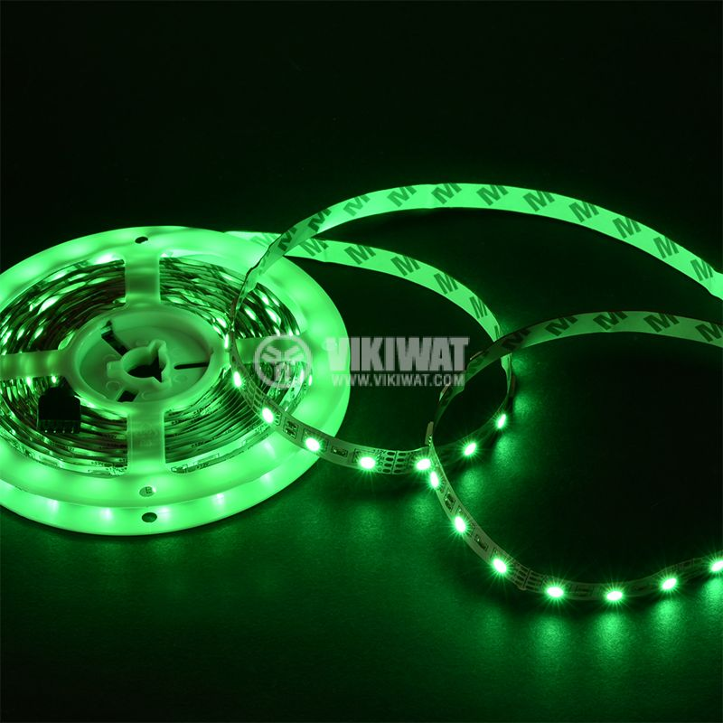 LED strip 60LED/m, RGB, SMD5050, 12VDC, 14.4W/m, IP20 - 7