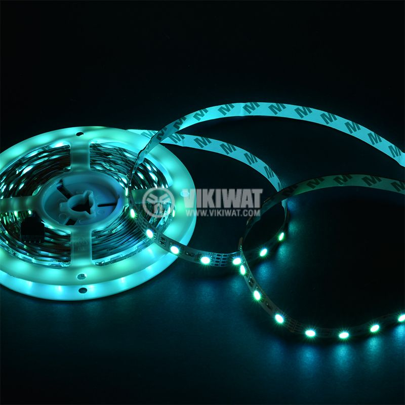LED strip 60LED/m, RGB, SMD5050, 12VDC, 14.4W/m, IP20 - 9