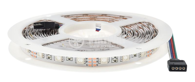LED strip 60LED/m, RGB, SMD5050, 12VDC, 14.4W/m, IP20 - 13