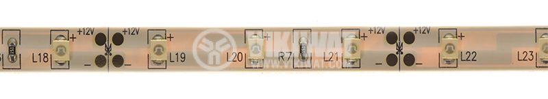 LED лента ECOLINE 3528, 60LED/m, 4.8W/m, 12VDC, IP65, влагозащитена, зелена, BL45-0204 - 1