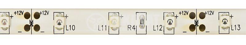 LED лента SMD3528, 60LED/m, 4.8W/m, 12VDC, IP65, влагозащитена, жълтa - 1