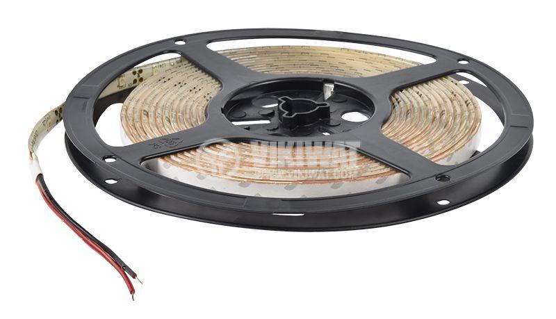 LED лента SMD3528, 60LED/m, 4.8W/m, 12VDC, IP65, влагозащитена, жълтa - 3