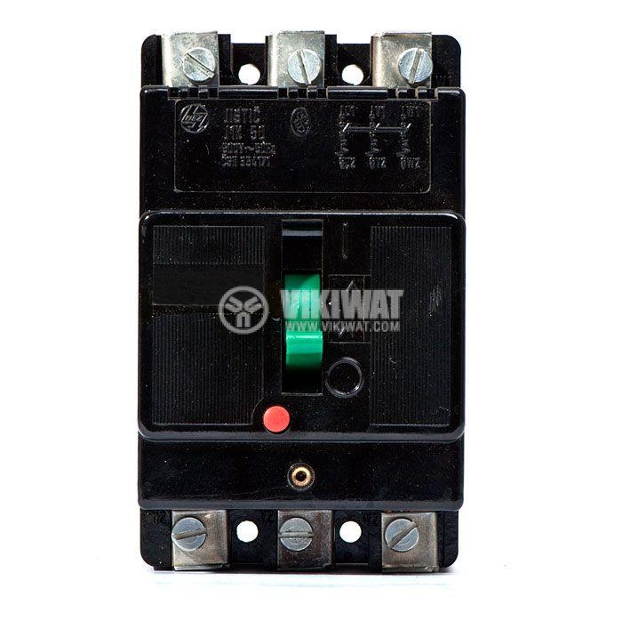 Automatic circuit breaker, J1K 50, 3P, 10 А, 500 V - 3