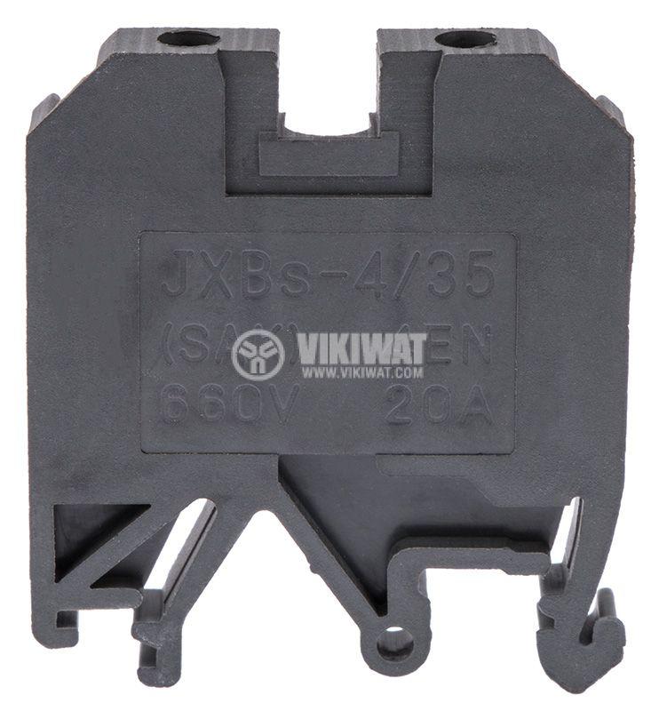 Terminal block SAK 4/EN 4mm2, 32A, 800V, black, plastic - 2