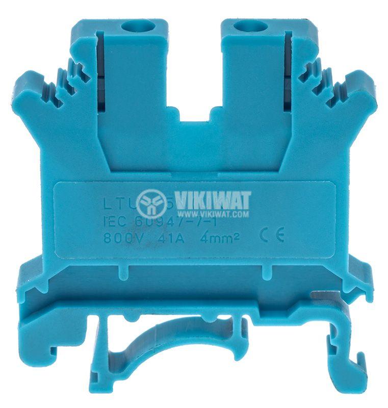 Редова клема, едноредова, SAK 4/EN, 4mm2, 32A, 800V, синя - 2