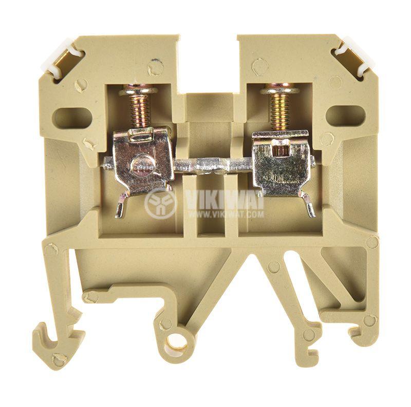 Редова клема, едноредова, JXB-2.5/35, 2.5mm2, 24A, 800V, бежова - 1