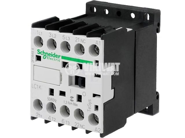 Contactor, three-phase, coil  24VDC, 3PST - 3NO, 12A, LP1K1201BD, NC