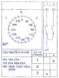 Пакетен електрически прекъсвач (ПЕП), 16А, 250VAC, 1 секция, 2 контакта, 3 позиции, Metop - 2