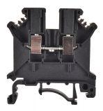 Редова клема, едноредова, JXB-2.5/35, 2.5mm2, 24A, 800V, черна