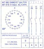 Пакетен електрически прекъсвач (ПЕП), 40А, 380VAC, 2 секции, 3 контакта, 2 позиции, Metop - 2