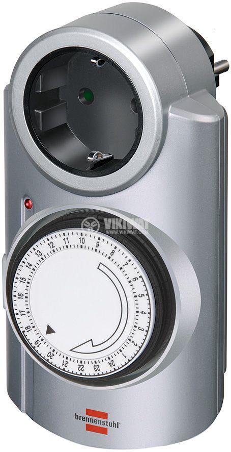 Mechanical Quartz Timer MT 20, 220 VAC, 16 A, 3500 W, 24H - 1