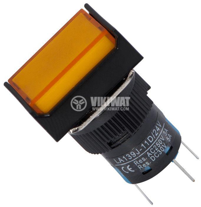 Button Switch type RAFI, LA139J-11D, 24VDC, SPDT-NO + NC - 1