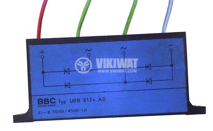 High Voltage Bridge Rectifier UGB6124AG, 1 A, 5000 V