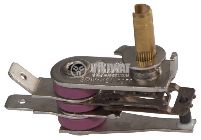 Thermostat, bimetallic adjustable, KDT-300A from 30 °C to 220 °C, NC, 12 A / 250 VAC - 1