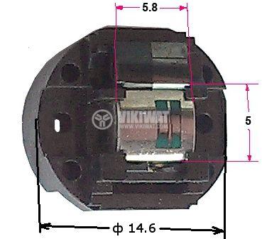 Аудио глава ротационна мини стерео 330 ohm - 1
