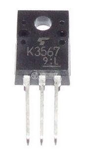 Transistor 2SK3567, MOS-N-FET, 600 V, 3.5 A, 35 W, 1.7 Ohm