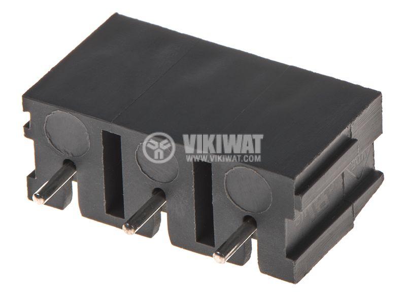 PCB терминален блок с изолационни прегради, 3 пина, 24A, за печатен монтаж - 1